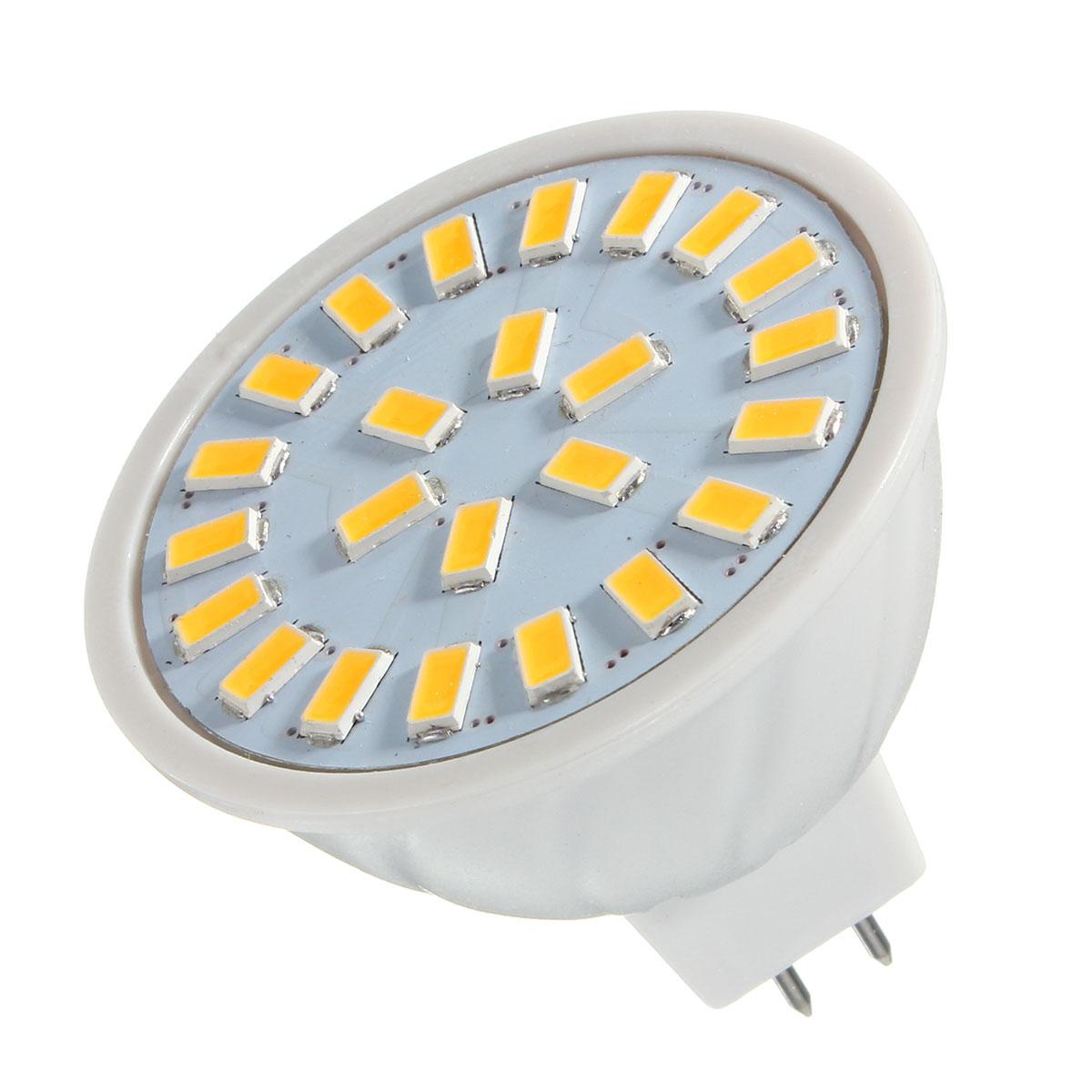 E14 E27 GU10 MR16 AC85-265V 3.5W 24 SMD 5730 Pure White Warm White LED Spot Lightt Bulbs 350LM