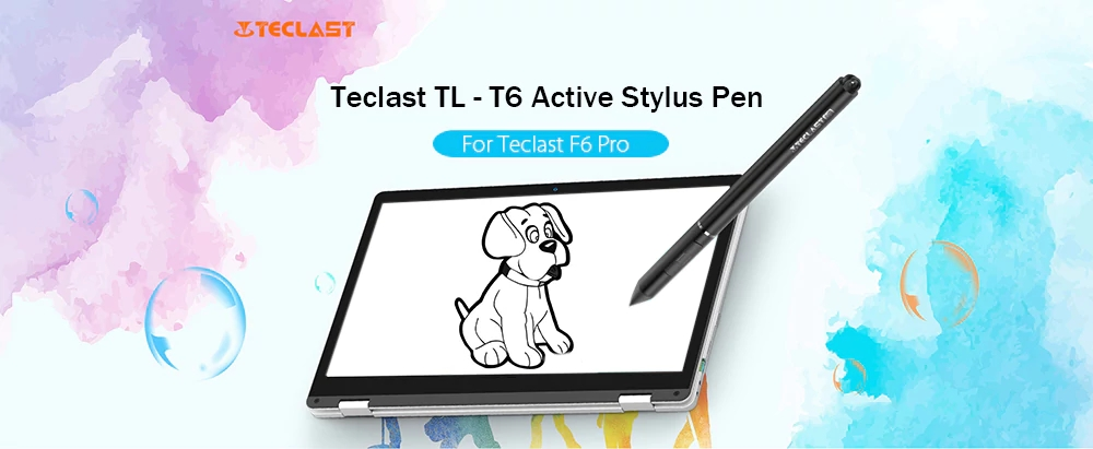 Teclast TL - T6 Active Stylus Pen Black Aluminum Alloy For Teclast F6 Pro Laptop Notebook