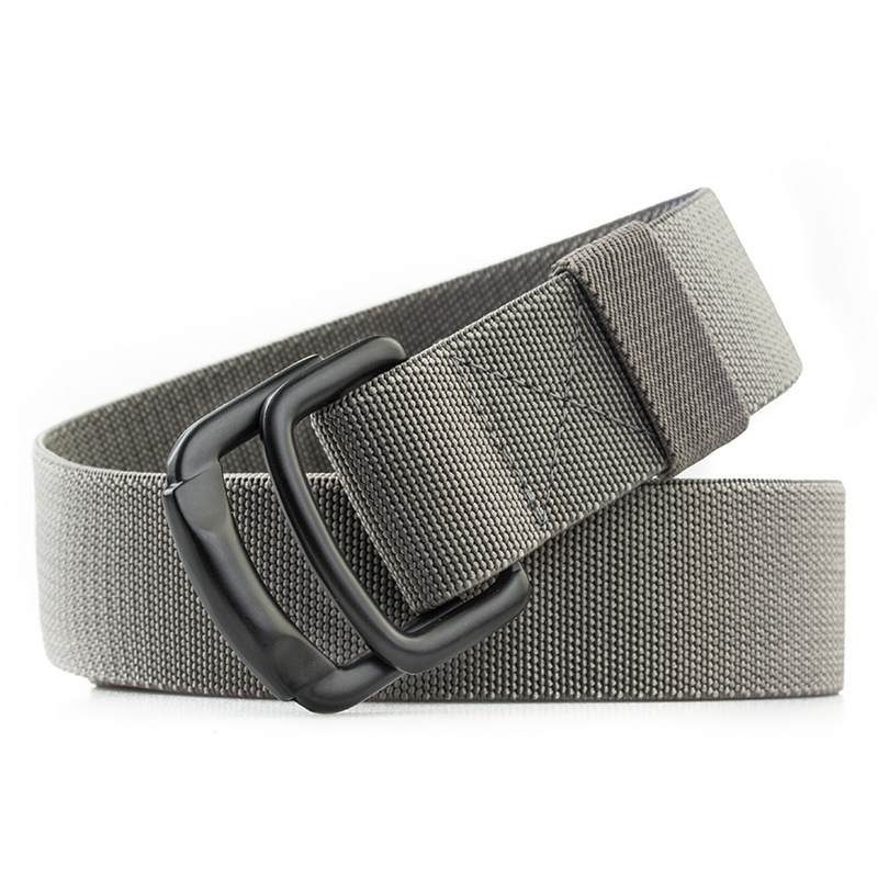 Men Casual Metal Buckle Elastic Braided Belt Metal