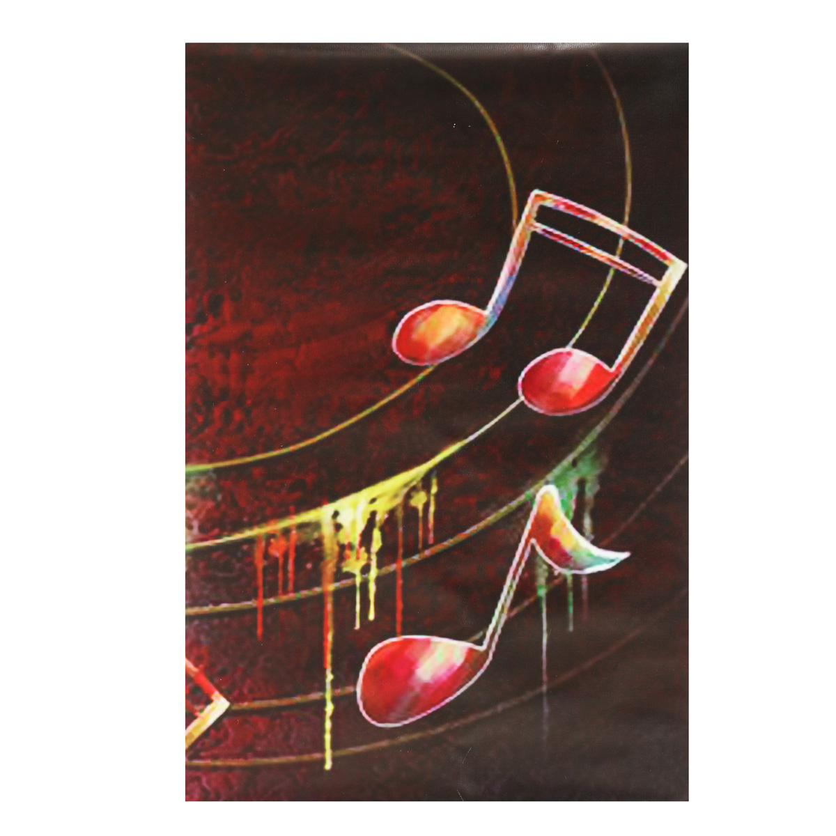 5 Pieces Frameless Guitar Music Shape Canvas Printing Wall Art Picture Home Decor