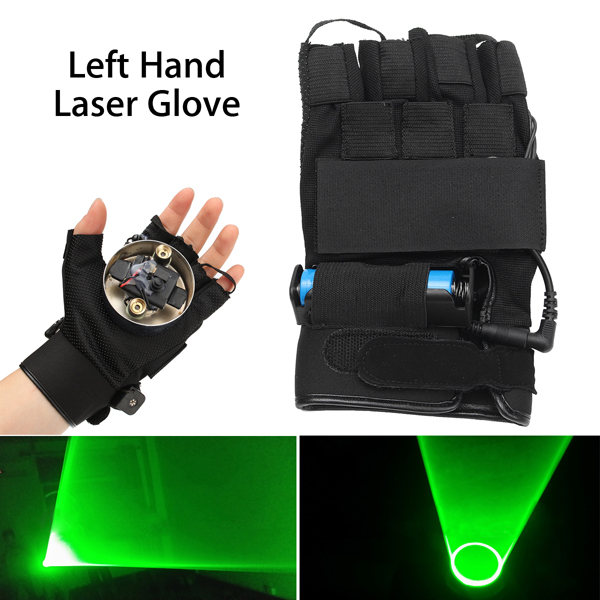 532nm Rechargeable Green Laser Glove Swirl Effect Stage Lighting For Left Hand
