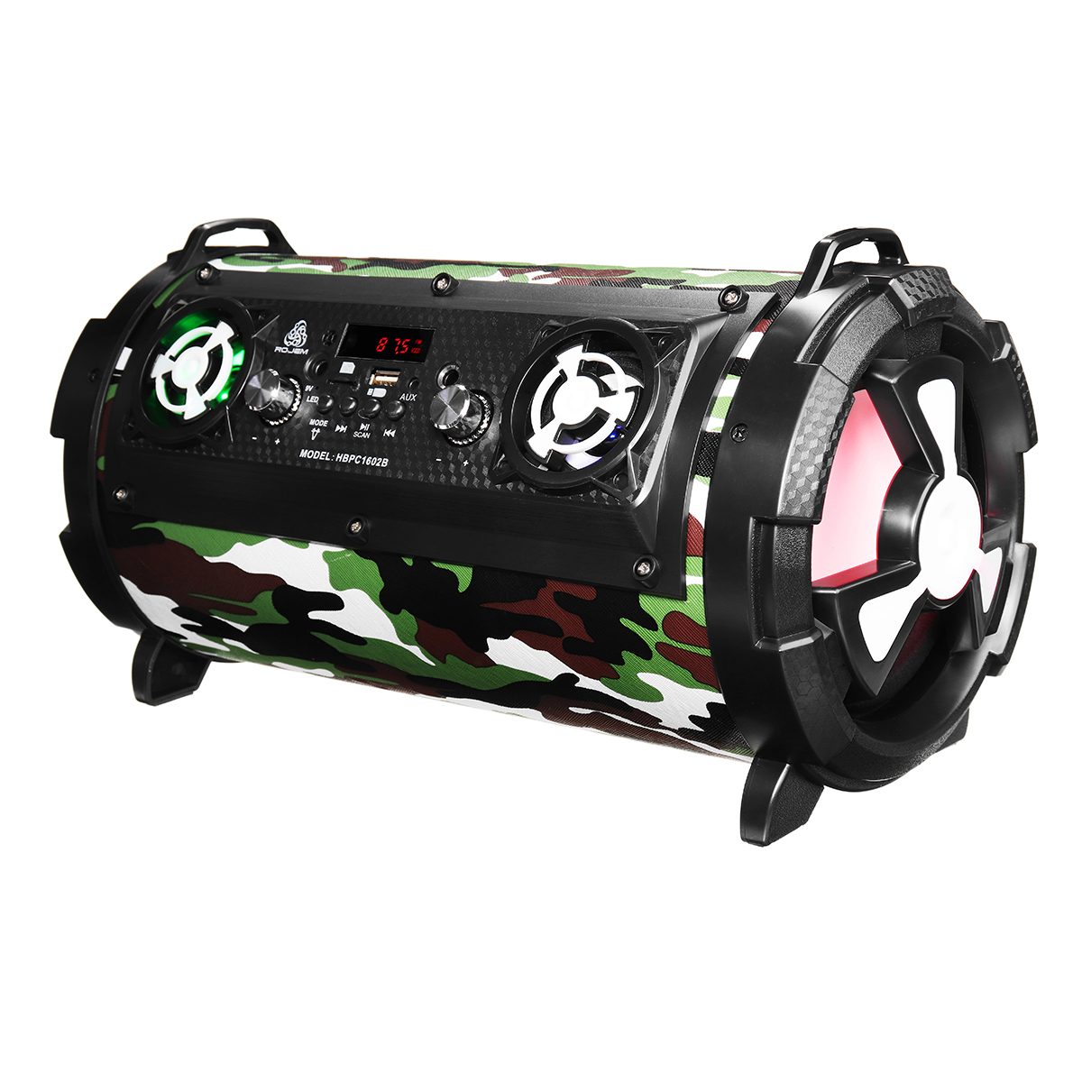 Upgraded 15W LCD bluetooth Wireless Speaker SuperBass Subwoofer Stereo AUX FM