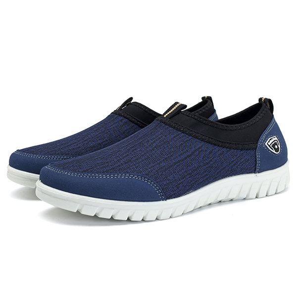 Men Soft Sole Sports Breathable Cloth Sneakers