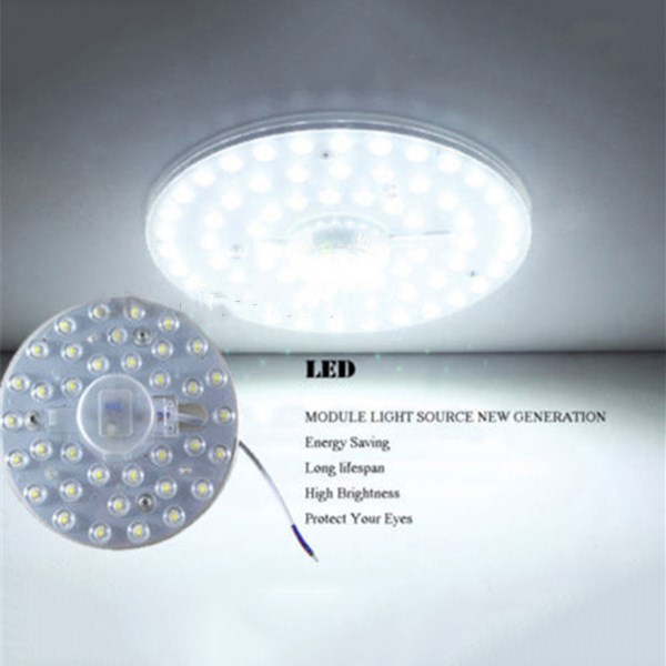18W 24W Round Square Pcb Board LED Module Pure White Retrofit Replace Ceiling Lamp AC165-265V