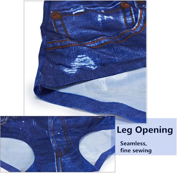 Women 3D Jean Printing Panties Seamless Comfort Soft Briefs Underwear