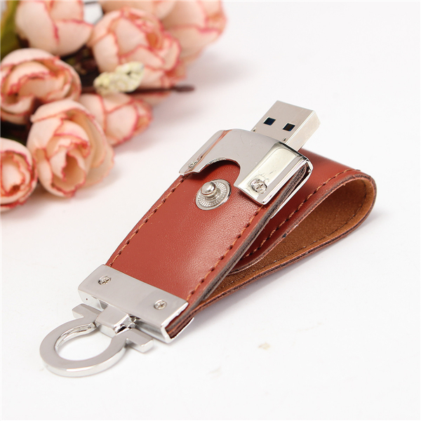 8/16/32GB Portable Leather Mirco USB2.0 OTG Flash Drive U Disk