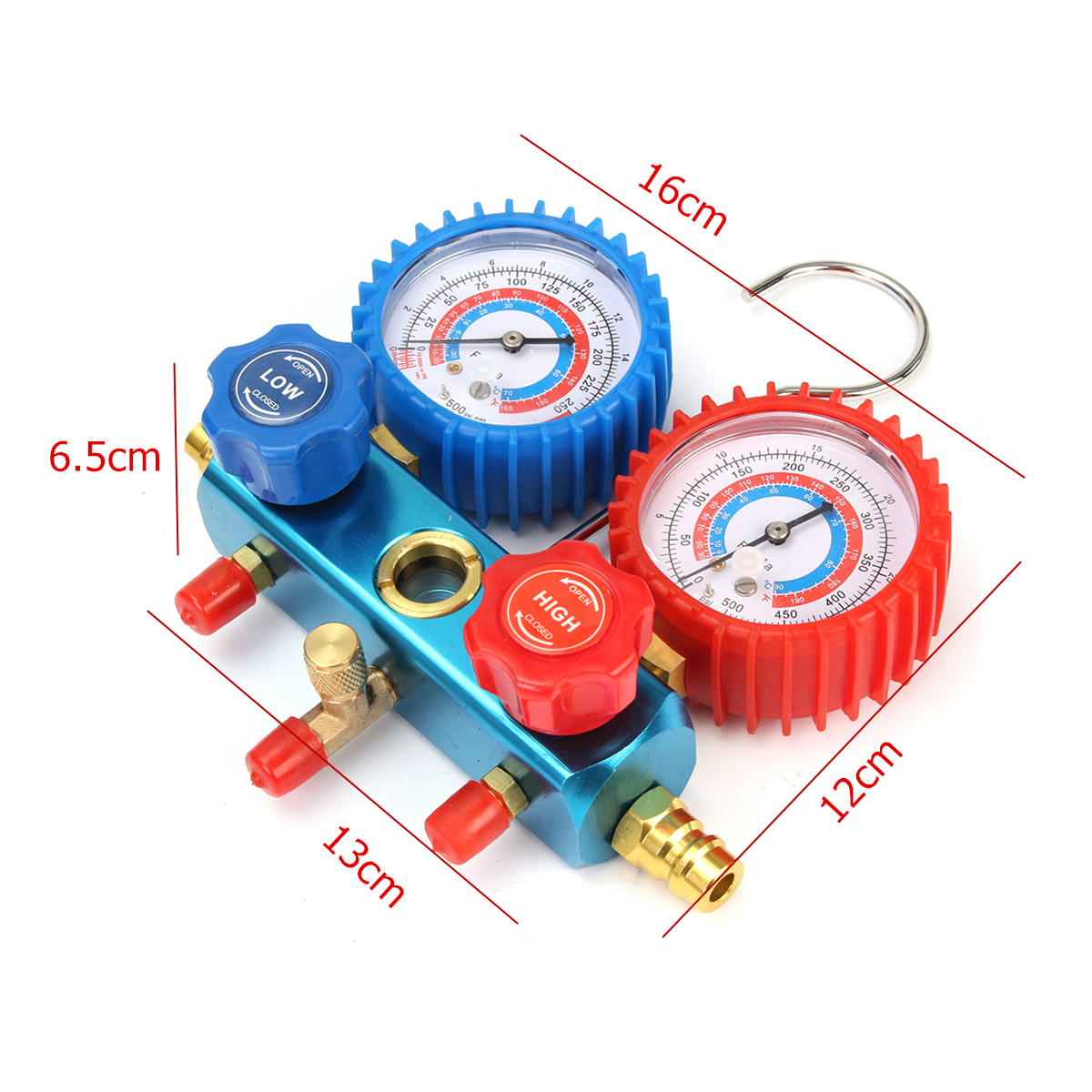 0-800 MPa Car Refrigerant Manifold Gauge Set Car Air Conditioning Cooling Equipment Tools With Tube