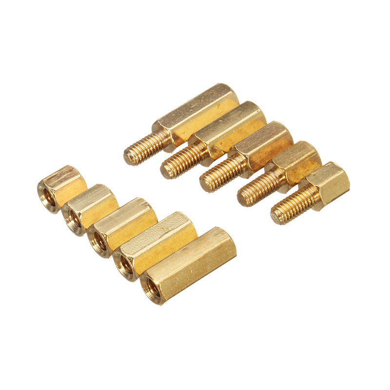 RJX HOBBY 150pcs M3 Brass Hex Spacer Set Assortment kit