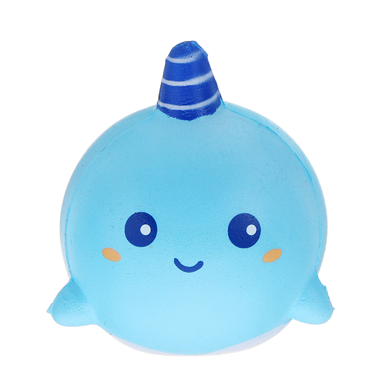 Squishy Narwhal Uni Whale Jumbo 11CM Slow Rising With Packaging Collection Gift Soft Toy