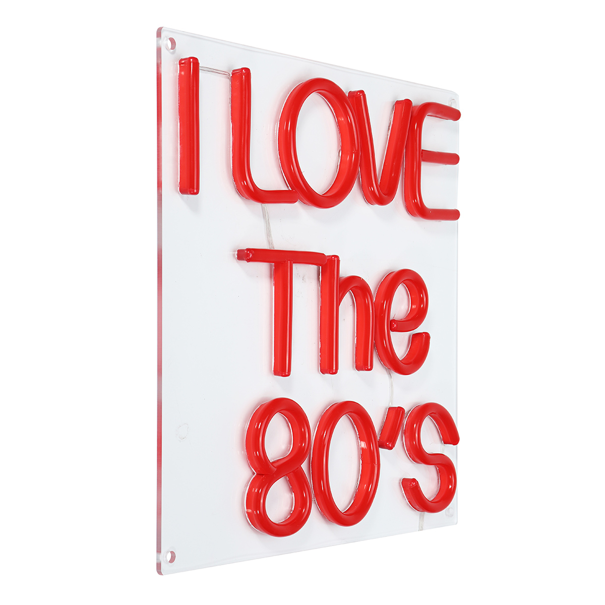 I Love The 80'S Neon Sign LED Tube Handmade Visual Artwork Bar Club Wall Stage Light Decor