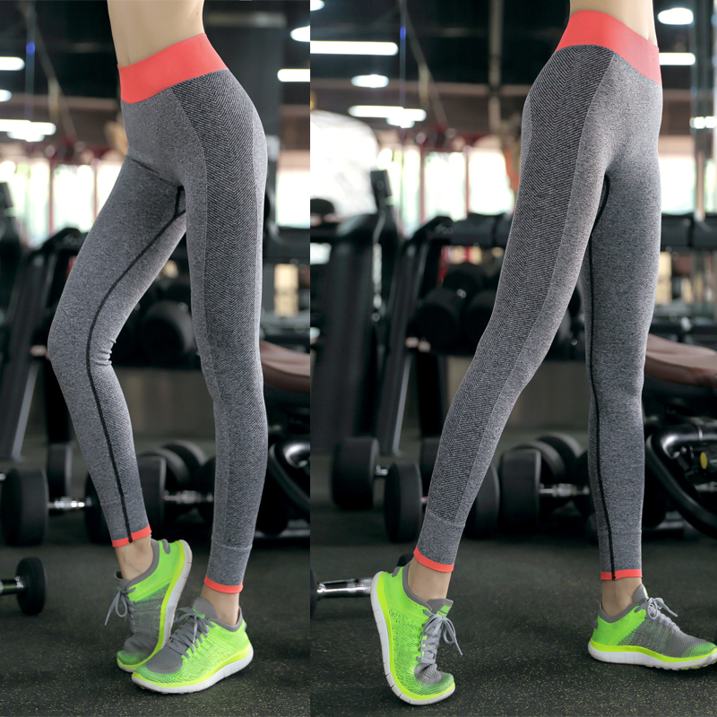 Outdoor Women Fitness Sports Yoga Running Tight Elastic Leggings Trousers Pants