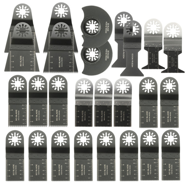 26pcs Mixed Blades Multitool Saw Blade Accessories For