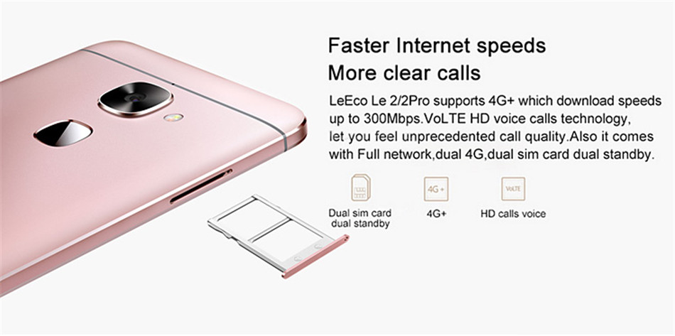 LeEco LeTV Le 2 X526 5.5 Inch Quick Charge 3GB RAM 32GB ROM Snapdragon 652 Octa Core 4G Smartphone