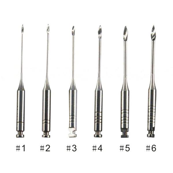 6pcs Dental Endodontic Reamers Drill Burs 32mm Dental Drills Gates Glidden Drills