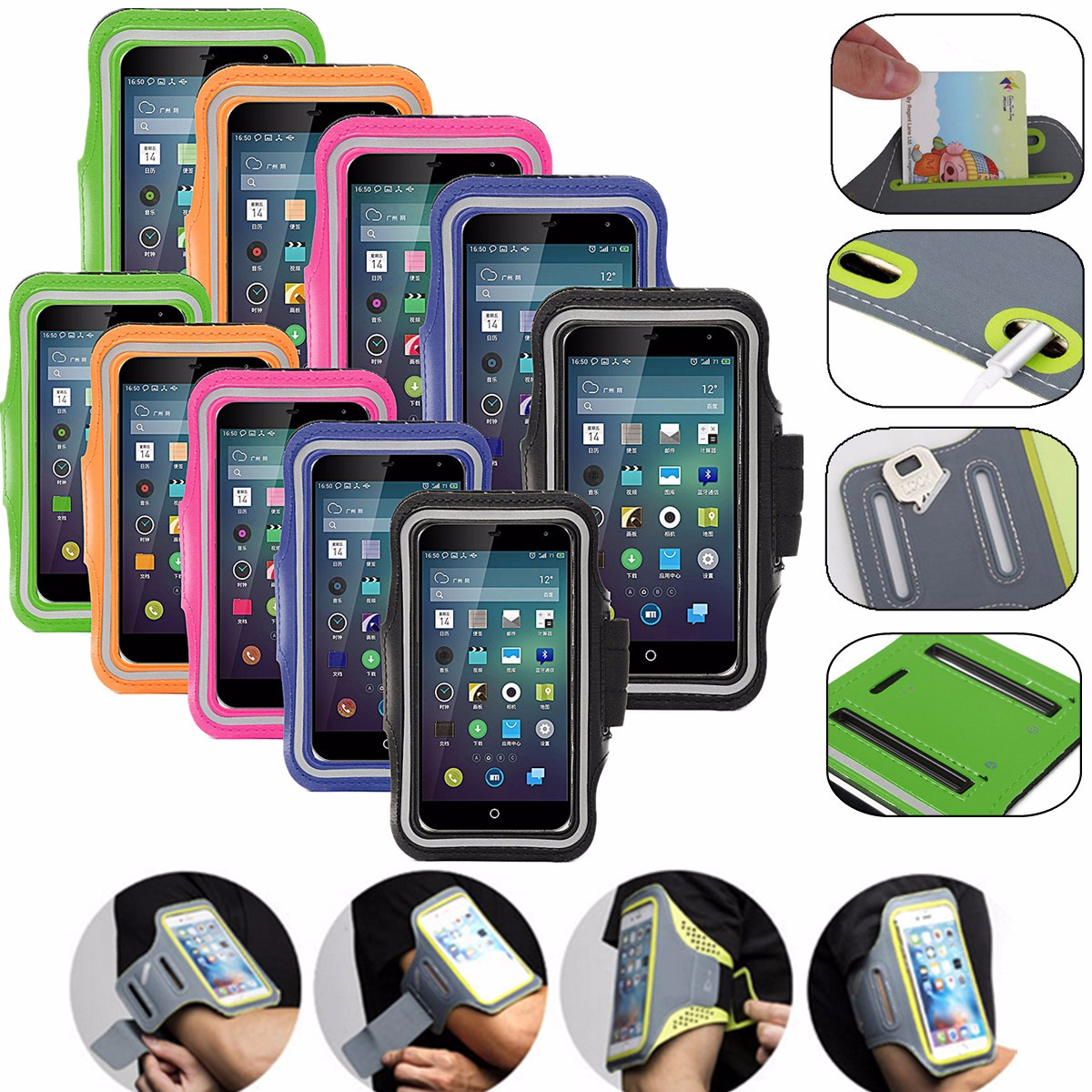 Arm Band Sports Armband Phone Case Holder Cover For iPhone 8/8 Plus 7/7 Plus 6 6s 6Plus 6sPlus