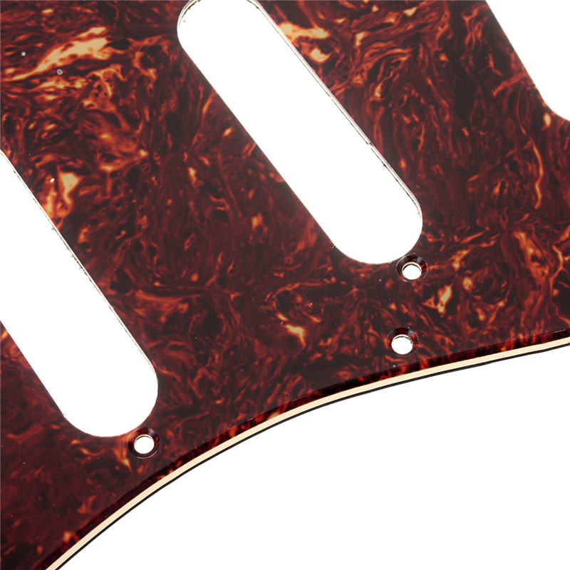 3ply Guitar Pickguard Direct Fit For USA/MEX Fender Stratocaster Strat Electric Guitar