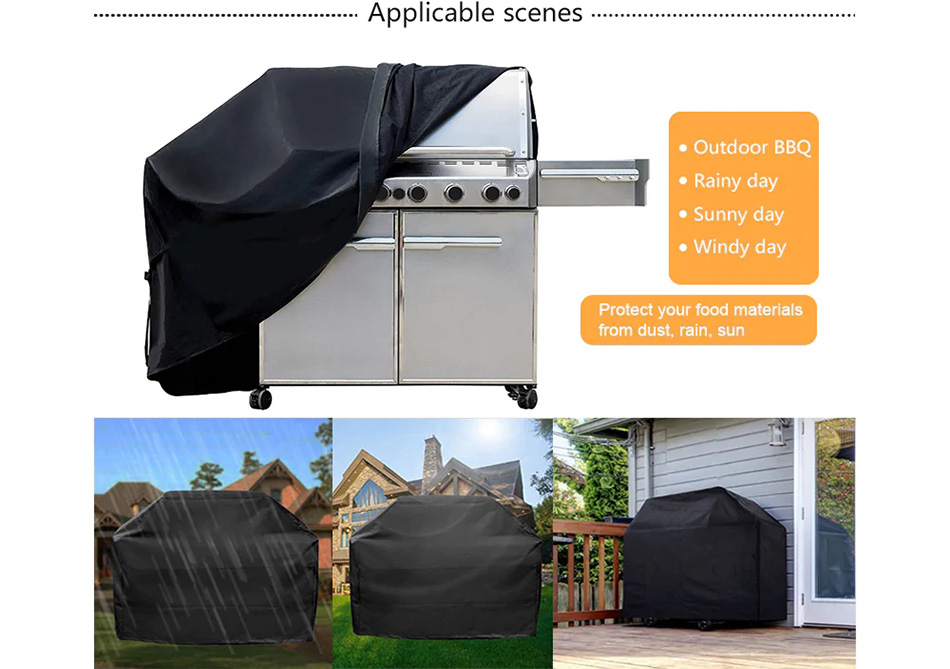 NEW BBQ Dust Cover Barbecue Covers Waterproof Garden Patio Grill Protector Household Merchandises Outdoor Covers