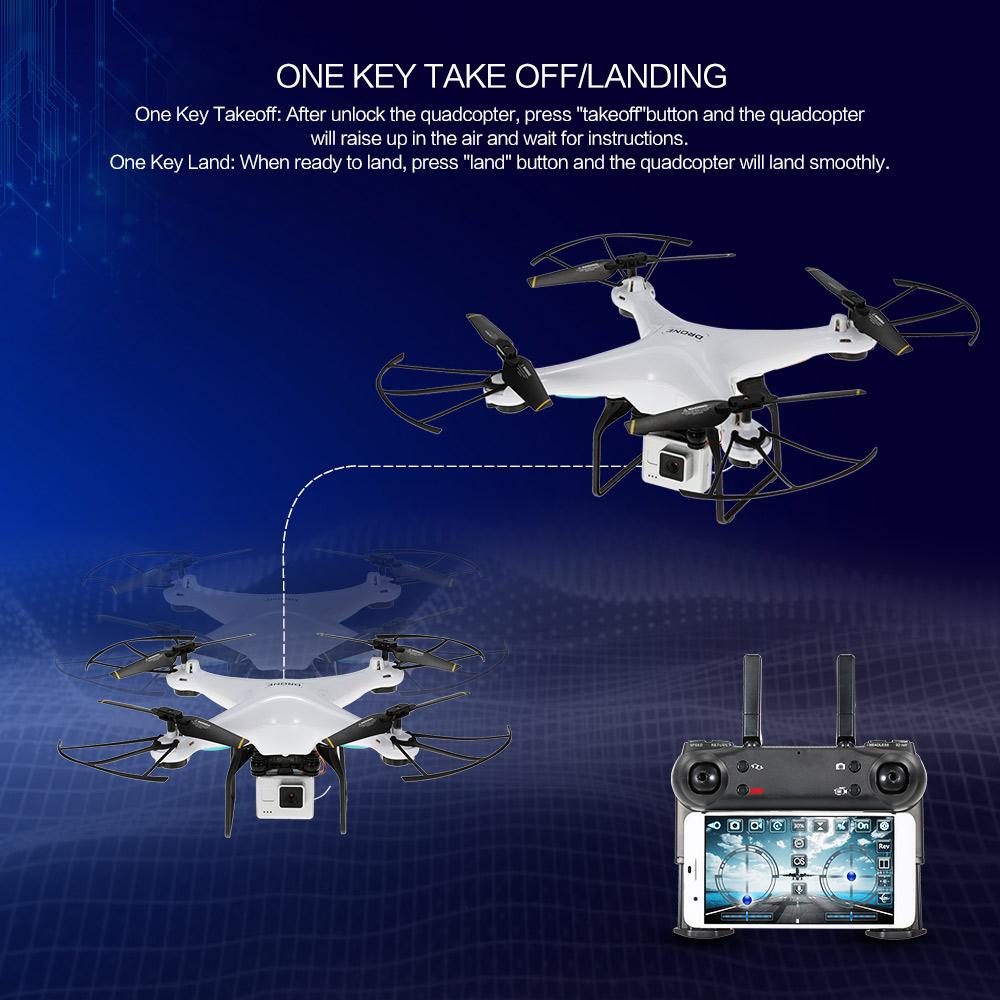 DM DM106 WiFi FPV With 2MP/0.3MP Camera Altitude Hold RC Drone Quadcopter RTF