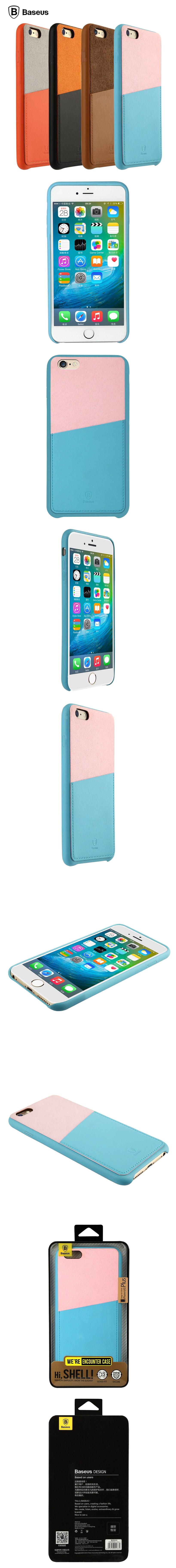BASEUS Hybrid Color Card Slot Case For iPhone 6 Plus & 6S Plus
