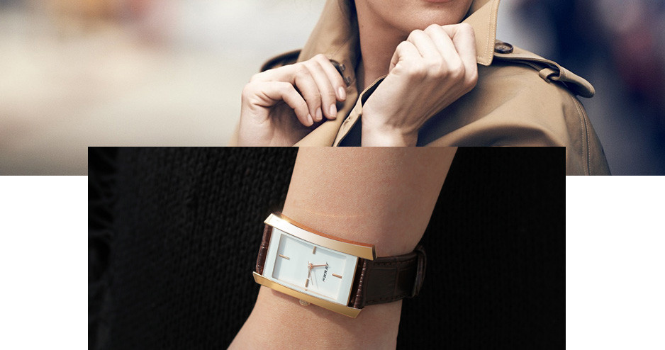 SINOBI 8179 Elegant Design Rectangle Women Wrist Watch