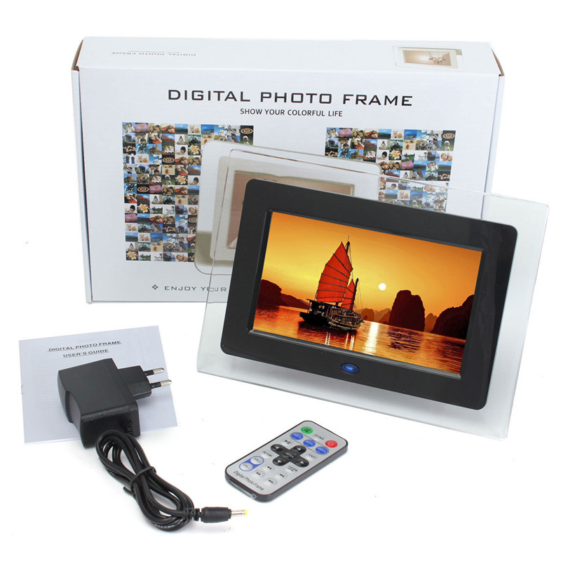 7 Inch HD LCD Digital Photo Frame Picture Album Clock Calendar MP3 MP4 Movie Player