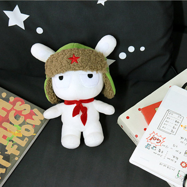 XIAOMI White Stuffed Plush Toy Classic MITU 25cm Cute Soft Doll Kids Best Gift