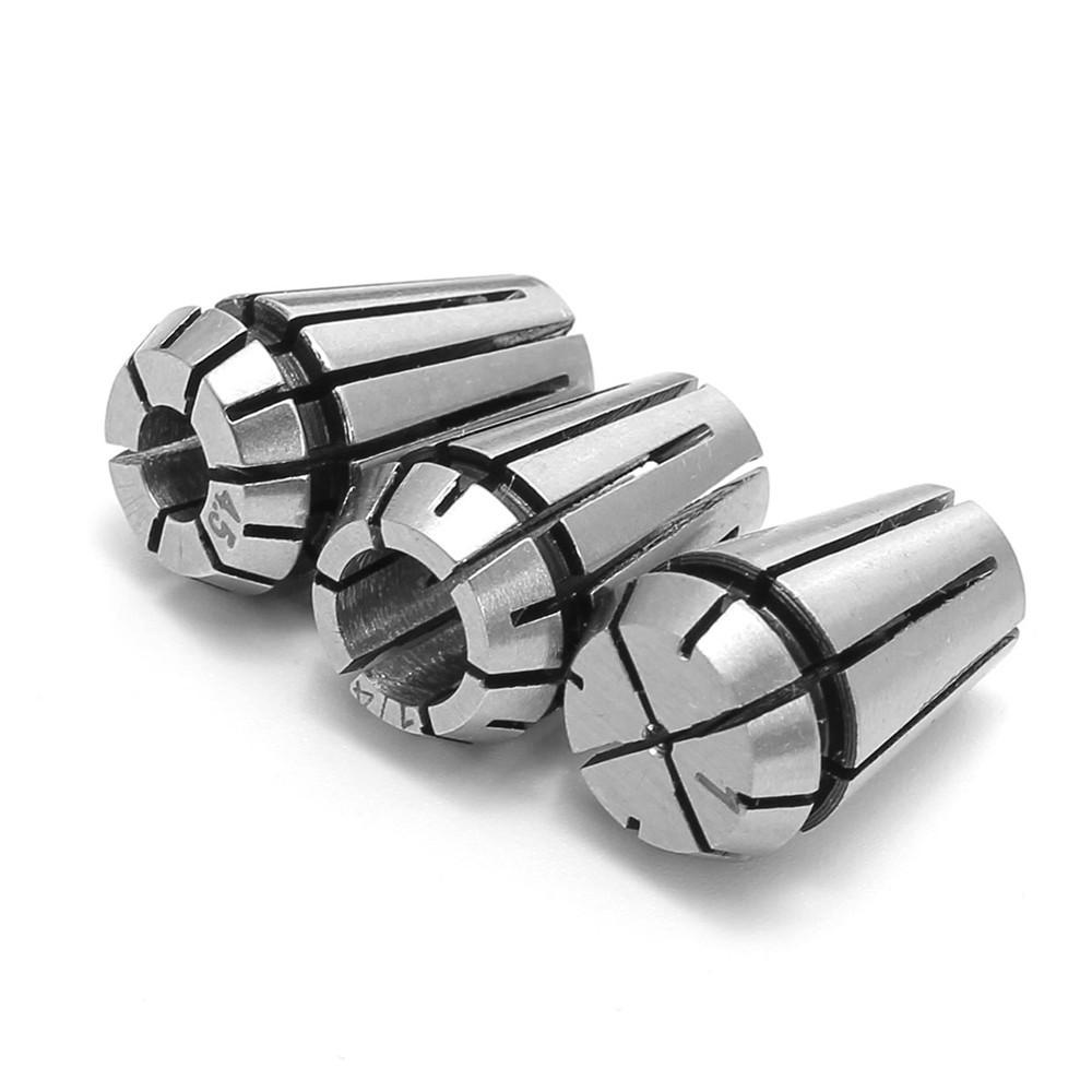 15pcs ER11 1-7mm Spring Collet Set for CNC Milling Lathe Tool Chuck Collet