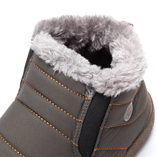 Big Size Winter Unisex Cotton Snow Boots Keep Warm Outdoor Plush Flat Shoes