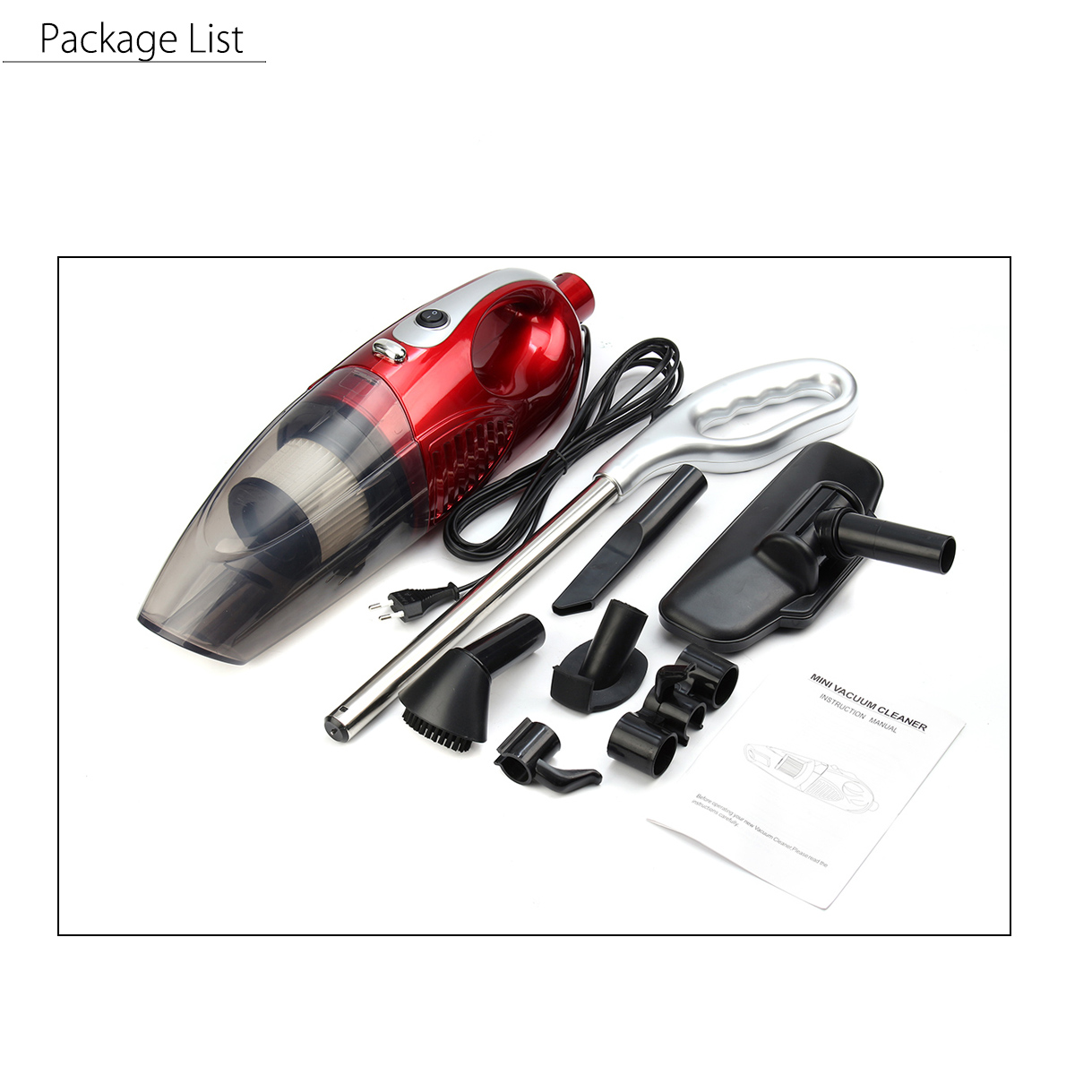 2 in 1 1200W Home Vacuum Cleaner Hand Held Portable Upright Bagless Lightweight