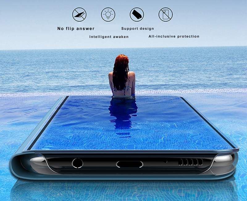 Bakeey Flip Smart Sleep Mirror Window View Bracket Protective Case For Huawei P20 / P20 lite/P20 PRO
