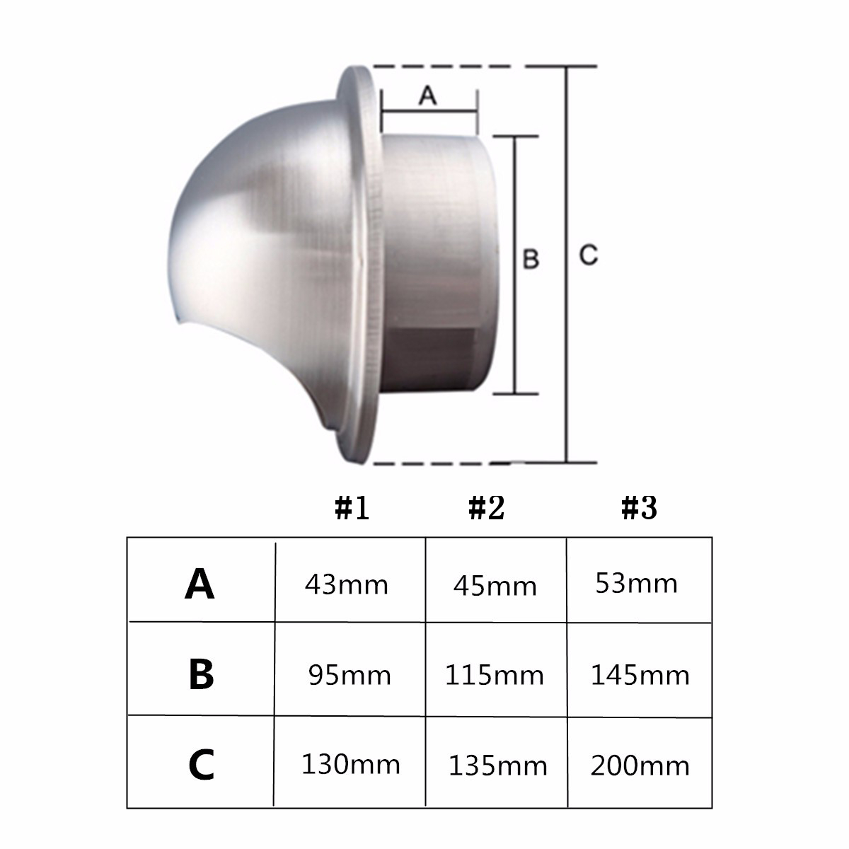 Wall Air Vent Stainless Steel Metal Exhaust Grille Duct Ventilation Cover Outlet