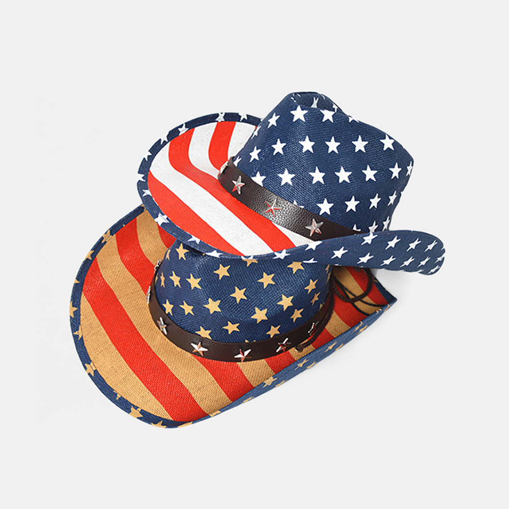 Western Cowboy Hat Sailor Dance Hat Patriotic Jazz Hat