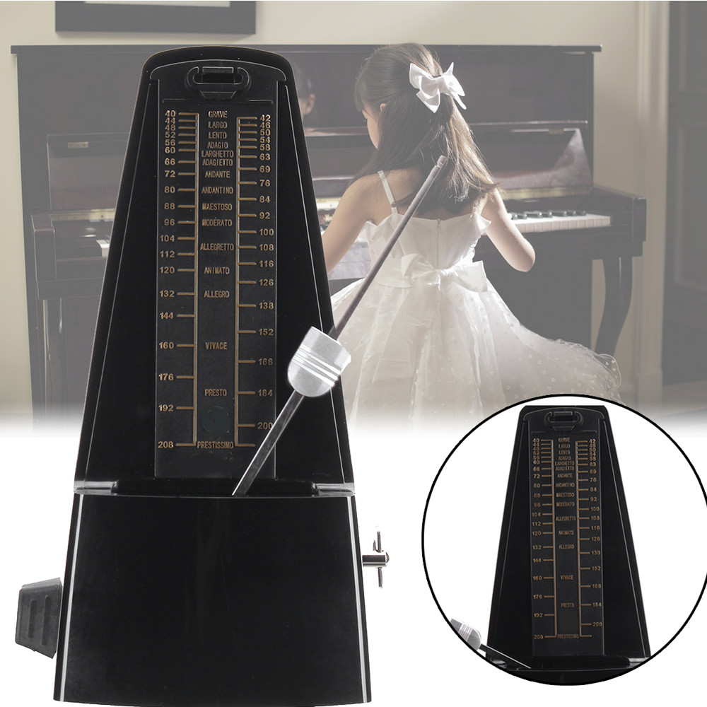 Traditional Wind Up Mechanical Metronome for Guitar Piano Musical Instruments