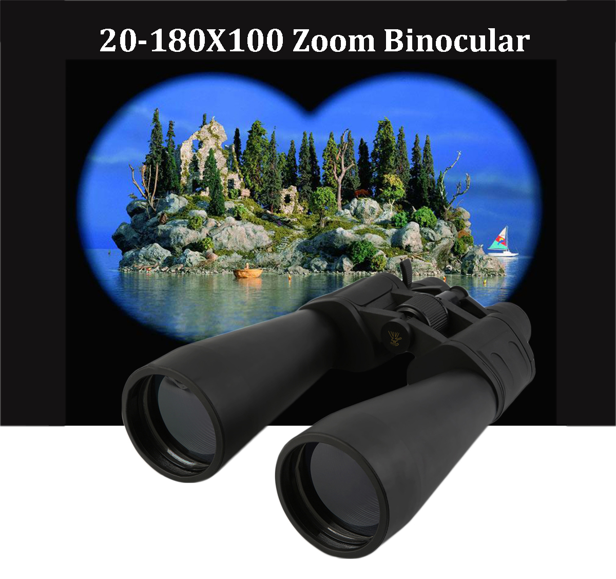 IPRee® 20-180x100 HD Super Zoom Binocular BAK4 FMC Coated Low Light Level Night Vision Telescope