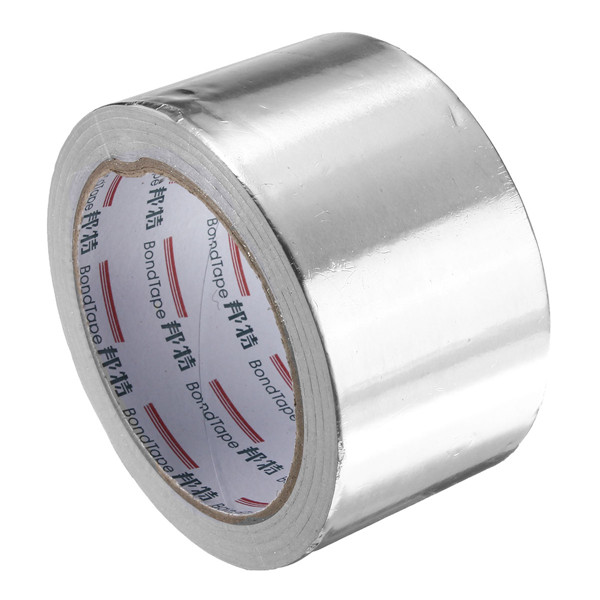 60mm x 25M Silver Aluminum Foil Tape Heat Reflection Self Adhesive Seal Ring Tape