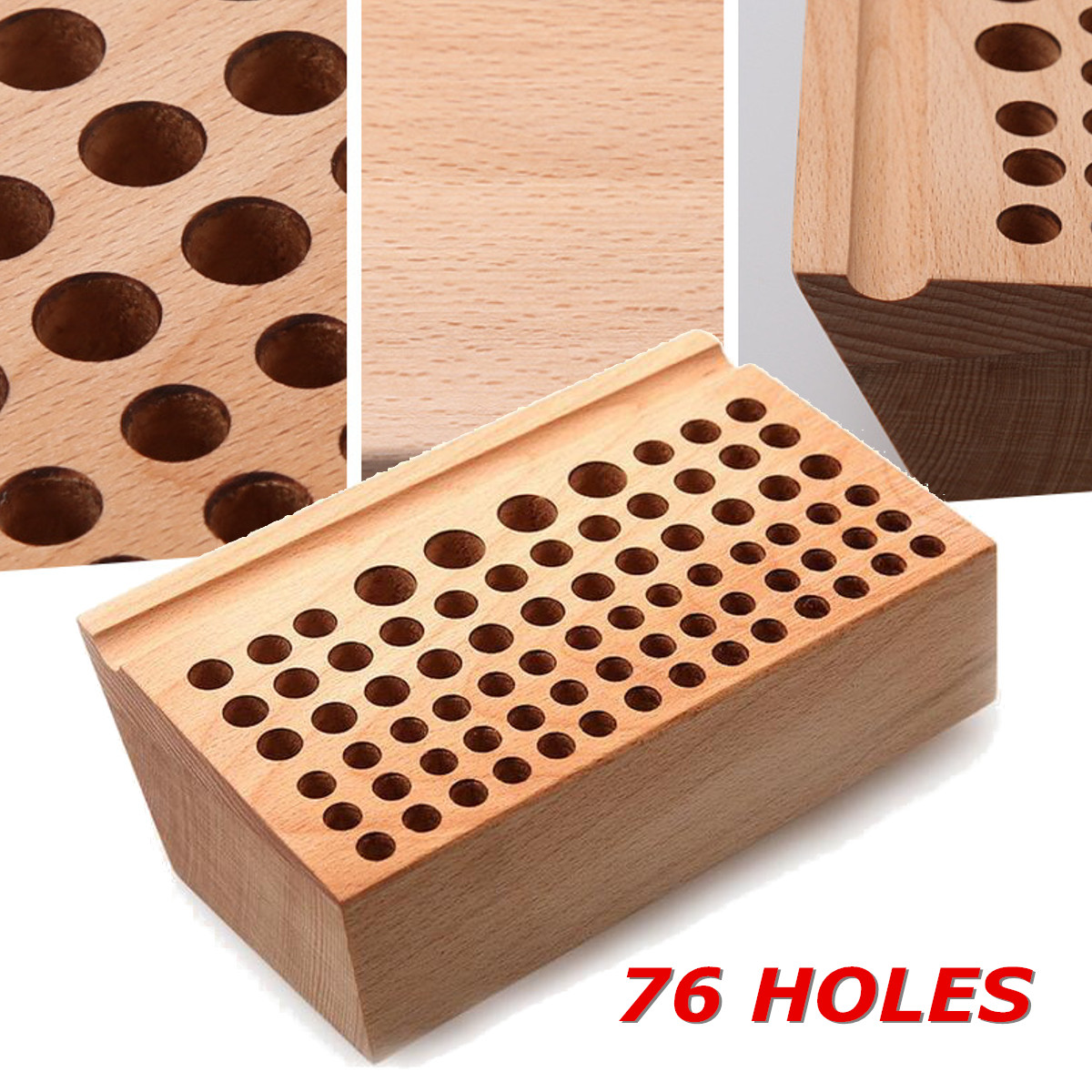 Wooden Stamp Stand Holder 76 Leather Punch Wooden Holding Organiser Wood Tool Stand For Storing leathercraft