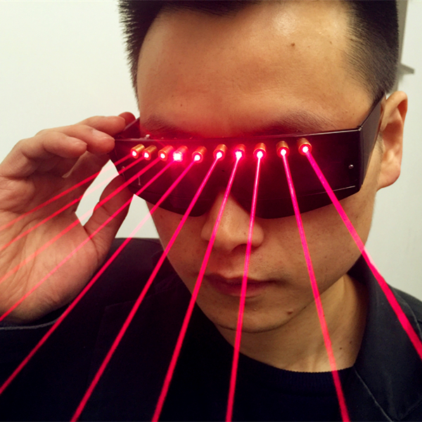 5MW 650nm Stage Red Light Laser Glasses for Laser Pointer