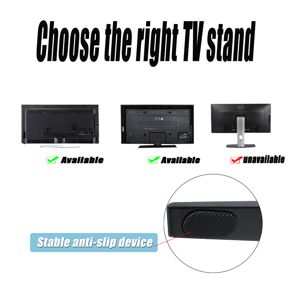 Universal TV Stand Support Base Plasma LCD Flat Screen Table Top Pedestal Mount 32-65inch