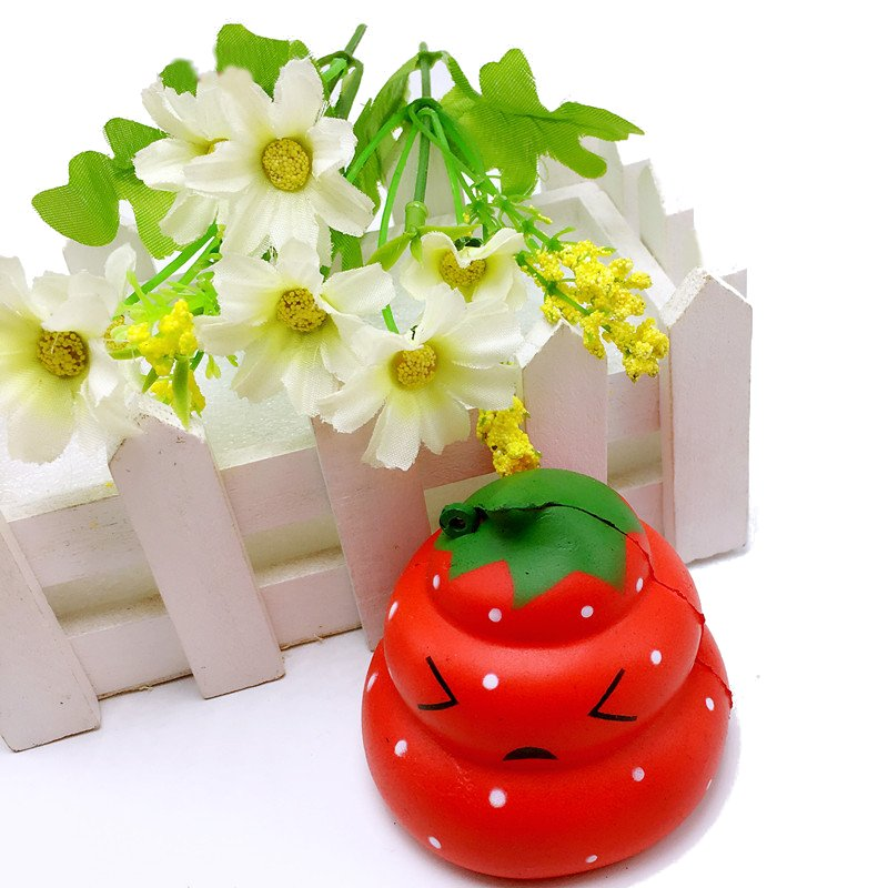 Squishy Strawberry Poo Slow Rising Scented Cartoon Bun Gift Decor Collection