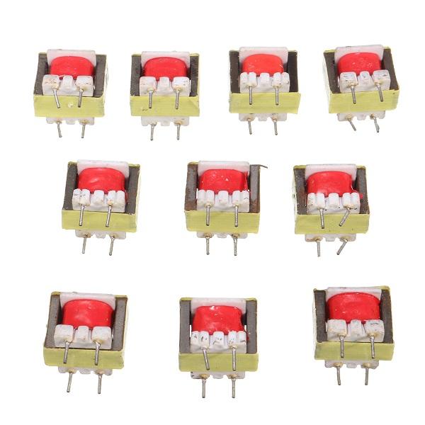 10pcs 1300 : 8 Ohm Audio Transformer EE14 Transformateur Audio POS Transformador