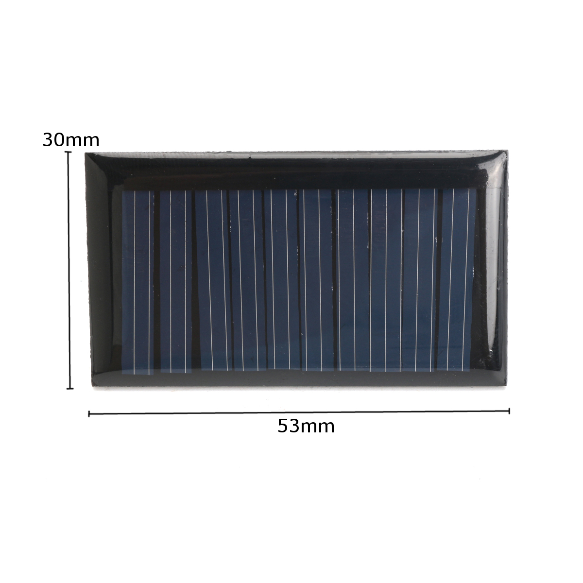 10Pcs 5V 30mA 53X30mm Micro Mini Small Power Solar Cells Panel For DIY Toy