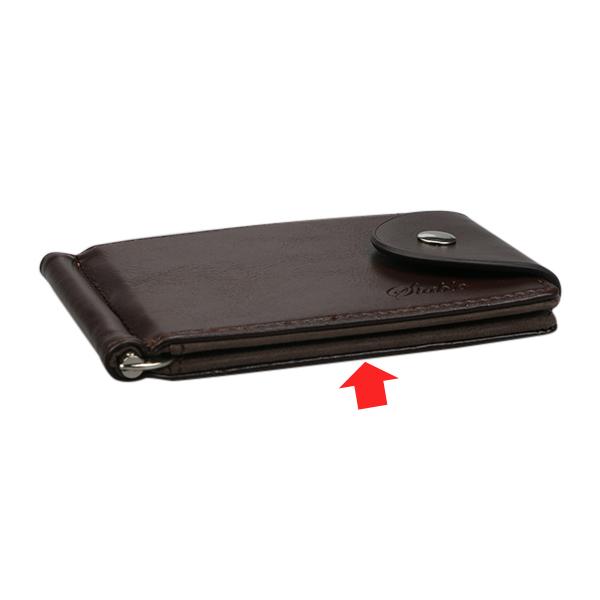Men PU Leather Short Wallet Business Horizontal Wallets Credit Card Holder