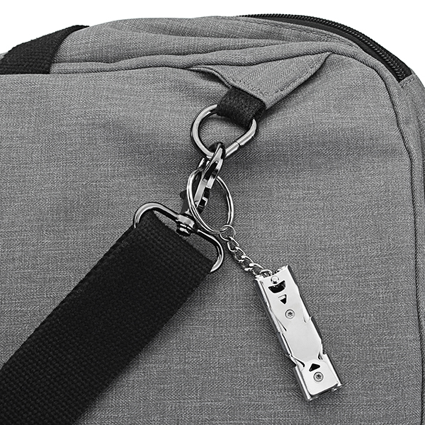 Double Pipe High Decibel Stainless Steel Outdoor Emergency Survival Whistle Keychain Camping HIking Keychain Whistle