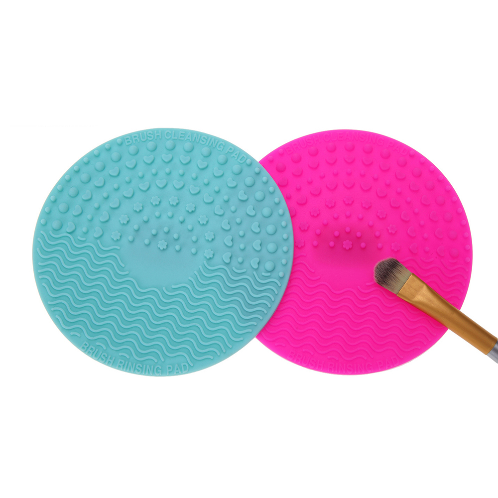 2Pcs Silicone Brush Cleaning Pad Makeup Brush Scrub Cleanser