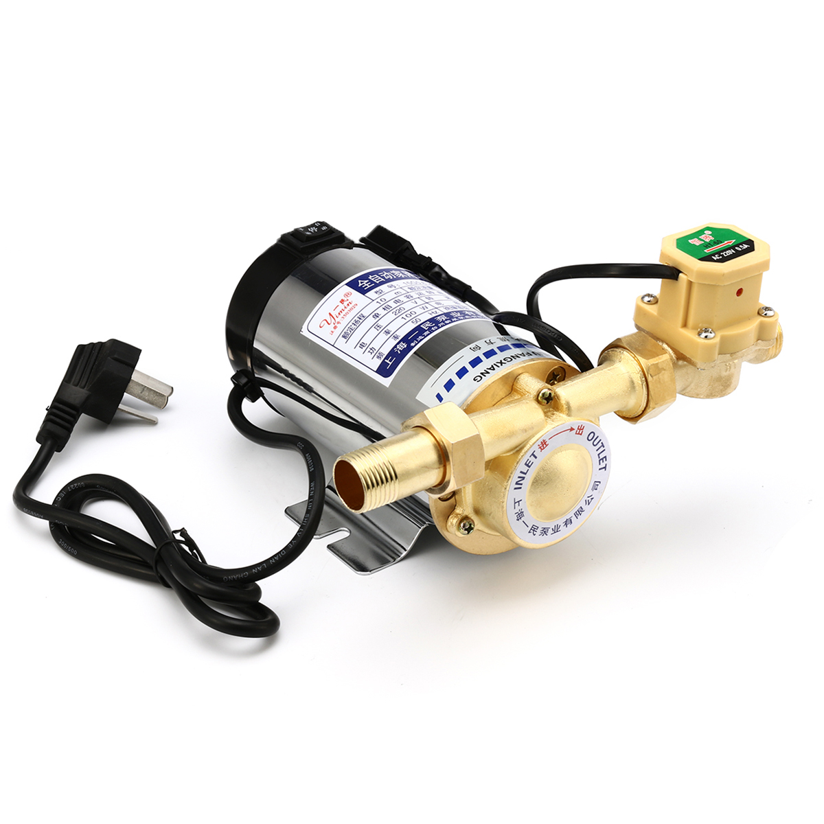 100W/150W Water Pressure Booster Pump Shower Home Electric Automatic Stainless Steel Water Pump