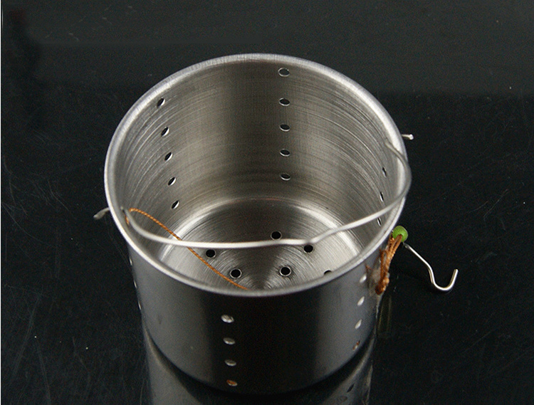 5PCS 54*61mm Thickening Stainless Steel Fishing Lure Feeder Holder Outdoor Fishing Tool Bait Basket