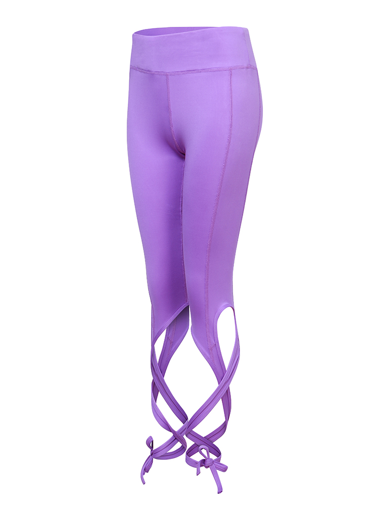 Soft Elastic Quick-dry Bandage Solid Color Tight Cropped Sport Yoga Pants For Women