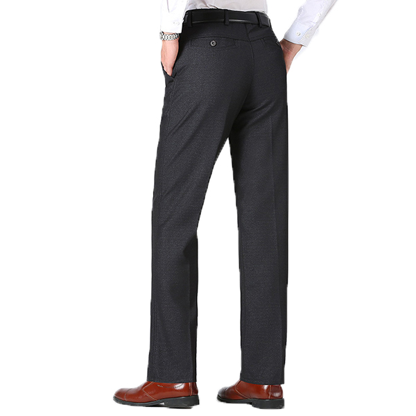 Casual Business Straight Suit Pants Thick Falt Front Pants