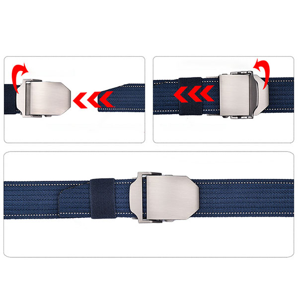 125CM Mens Nylon Military Durable Metal Buckle Belt Casual Breathable Jeans Waistband