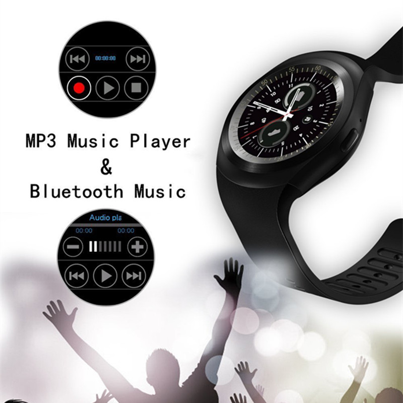 Y1 Smart bluetooth3.0 Watch Phone Band SIM Card Touch Screen Sport Bracelet